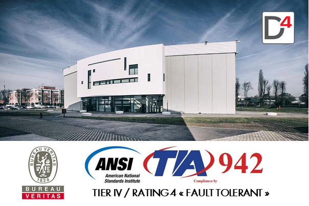 Il Data Center 03 del Campus Digitale italiano di DATA4 è ANSI TIA 942 Tier IV/ Rating 4